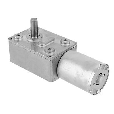 12V 100RPM Torque Turbine Electric Worm Gear Speed Reducer Gearbox DC Motor