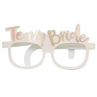 Pink & Rose Gold Team Bride Paper Glasses Hen Party Accessory Ginger Ray
