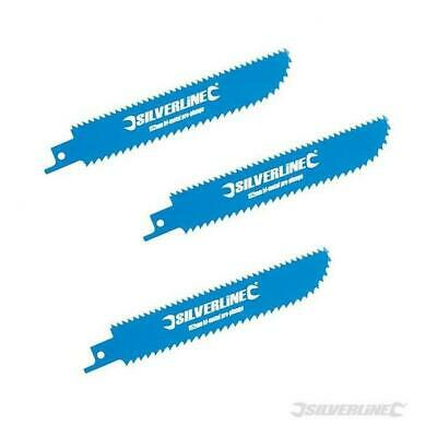Pack of 3 Reciprocating Saw Plunge Blades 100mm Wood, Plastic, Sheet Metal