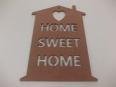 Home Sweet Home Wall Plaque  A3 Light Brown Home Decoration House Warming Gift