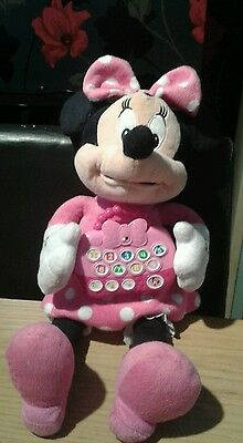 """Disney 16"""" talking and interactive minnie mouse plush toy"""