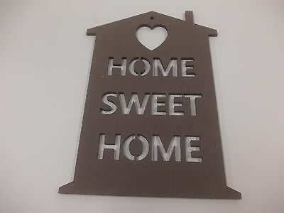 Home Sweet Home Wall Plaque  A3 Black Home Decoration House Warming Gift