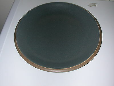 Dansk Santiago Small Serving Plate - Gray with Brown Trim