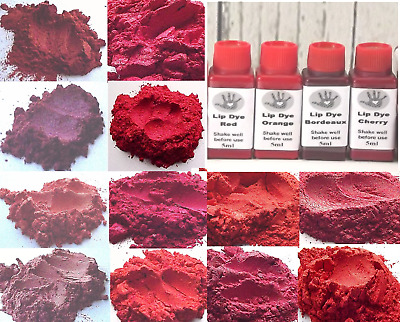 Red Pigment Collection Natural Cosmetic Grade Home Makeup Skincare Lipsticks