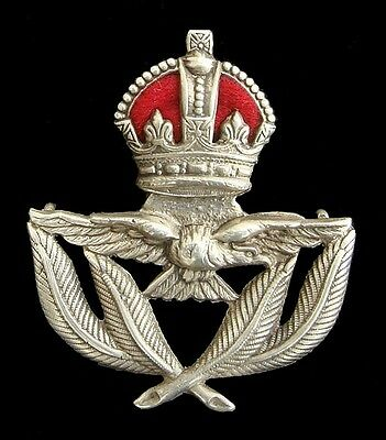 Ww2 The Royal Air Force Badge Officers Silver