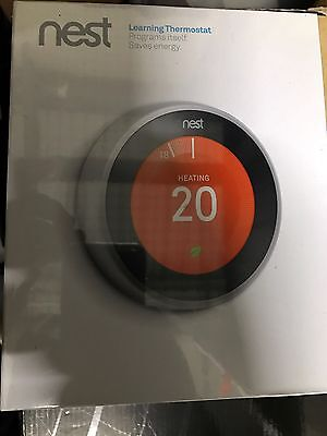 Nest Smart App Controllable Learning Thermostat 3rd Generation Brand New Sealed