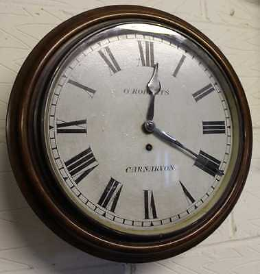 Lovely Victorian Fusee School Clock by G Roberts of Caernavon