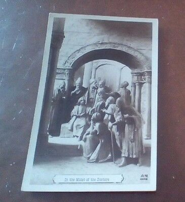 "Vintage b&w postcard ""in the midst of the doctors"""
