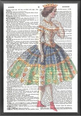 Heart Princess Altered Art Print Upcycled Vintage Dictionary Page