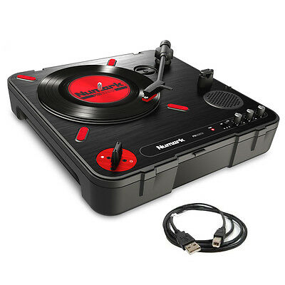Numark PT01 Scratch Battery + Mains Vinyl Record USB Turntable +Built-in Speaker