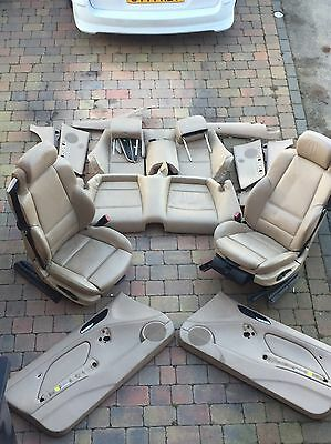 Bmw E46 Convertible Beige Interior Heated Seats Leather Door Cards