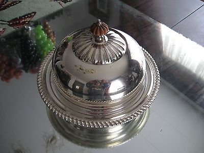 Quality!  Gadroon Antique Birks Regency Plate  Silver Plate   Butter Dish Bowl