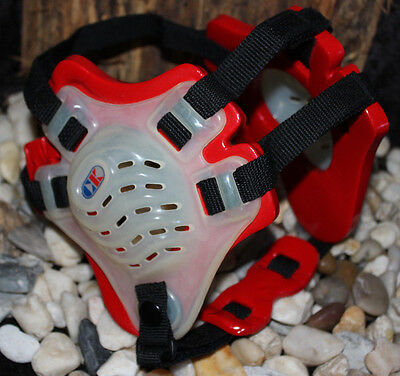 New W/o Pkg Red Ck Cliff Keen Protective Wrestling Adjustable Headgear Ear Guard