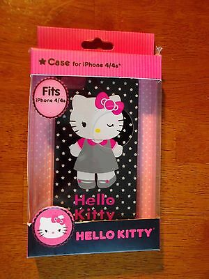 NEW Black with Stars HELLO KITTY iPhone 4 / 4s Case Sanrio Co