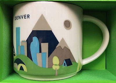 "STARBUCKS  ""You Are Here"" DENVER coffee mug; Brand new in box"