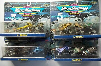 Galoob Micro Machines Babylon 5 Sets # 1-4 Original Unopened Packages