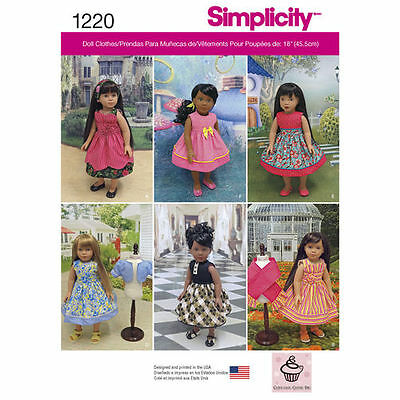 18-inch Doll  Variety Clothes  Pattern # 1220 Size: OS