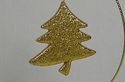 Gold Glittered Tree ChristmasTree Ornament new winter holiday decorations