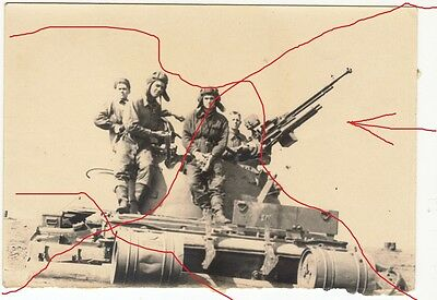 Ussr Cccp Original Red Army Soldiers Tank Crew Desert Region 19?? Afghanistan?