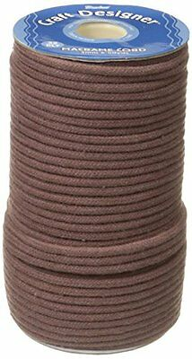 Darice Cotton Macrame Cord 32-Brown Poly Craft Made In The Usa Designed New