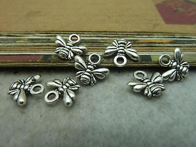 30pcs 11x10mm ancient silver lovely Little bee charm pendant