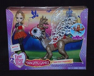 Ever After High Dragon Games Apple White Dragonrider inc Doll BNIB