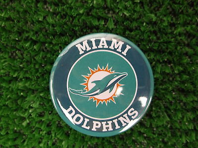 MIAMI DOLPHINS  BADGE or  FRIDGE MAGNET  38mm  in size