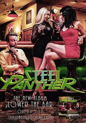 STEEL PANTHER Lower The Bar PHOTO Print POSTER Band All You Can Eat Hair Metal 6