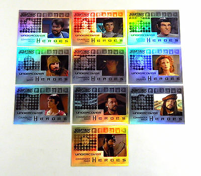 Star Trek The Next Generation TNG Heroes & Villains Undercover Heroes Set w/H10