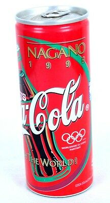 1998 COCA-COLA Japan Nagano Olympic Games Can Full Unopened Appx 5.25 x 2""