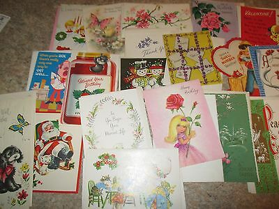 lot of  mix occasion greeting cards used vintage  not, Greeting card