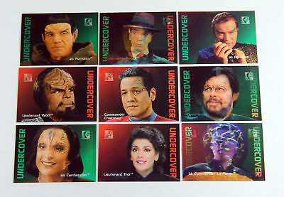 1995-96 Skybox 30 Years of Star Trek Phase Two Undercover Chase Set (L1-L9) Nm