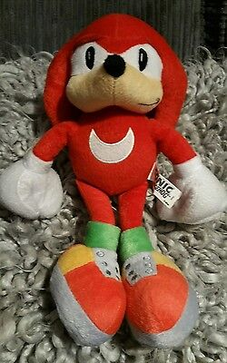 12 Inch Sonic The Hedgehog Red Knuckles Soft Plush Toy Impact Innovations