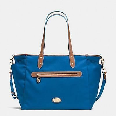 Coach Sawyer Street Diaper Bag In Blue, New With Tag, Free Ship