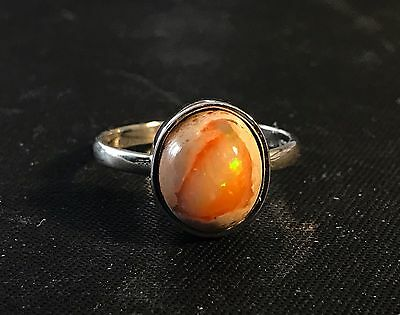 genuine mexican cantera fire opal ring on sterling silver 195 00