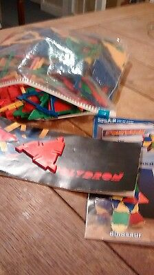 POLYDRON 3d construction set educational Frameworks loads Inc booklets