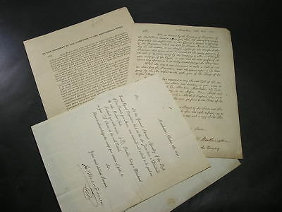 c1810-14  Peak Forrest & Macclesfield  Canal Letters / Documents