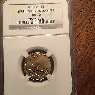 2012 W Star Spangled Banner  Ngc Ms70