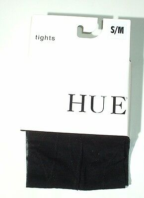 HUE Swirly Sheer Tight with Control Top Size S/M Black NWT
