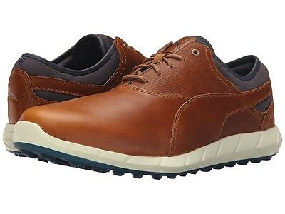 PUMA IGNITE SPIKELESS GOLF SHOES BROWN SIZE UK 10.5 brand new