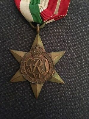 Ww2 The Italy Star Medal