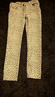 Girls Next Animal Print Trousers Age 9 - VGC