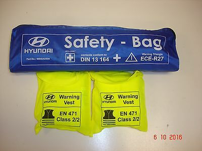 Car Safety Kit - Warning Triangle First aid Kit & High Vis Jackets