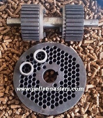 """6"""" (150mm) Roller Assembly and Die for Replacement or Homemade Pellet Mill - NEW"""