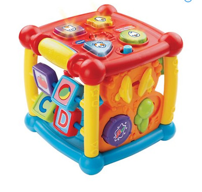 VTech Busy Learners Activity Cube Boy Baby Toddler Toys New Developmental Kids
