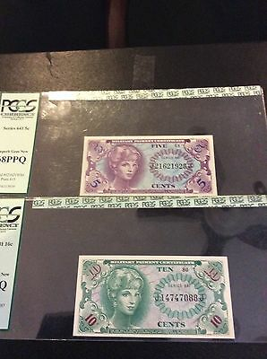 10cent Military Payment Certificate - Series 641 - PCGS Superb Gem New 68PPQ