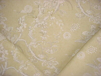 4y BREATHTAKING ACQUITAINE LIMONIA FLORAL LINEN UPHOLSTERY FABRIC