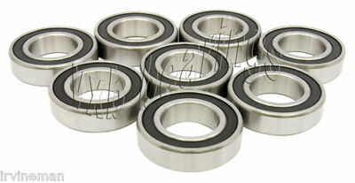 Lot of 8 Quality 6205-2RS/RS Snowmobile Sealed Ball Bearing 6205 RSR/DU/LU/RS1
