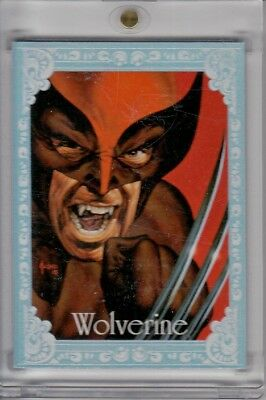 2016 Marvel Masterpieces Canvas Gallery Red #92 Wolverine #01/25 FIRST 1st Ser.