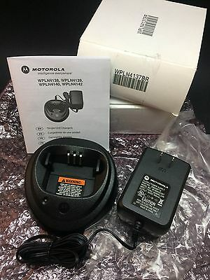 Motorola OEM WPLN4137BR Single Unit Rapid Charger OEM AC Adaptor CP200 180 400